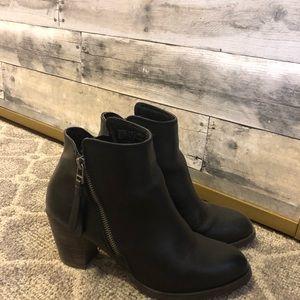 Tassel heeled booties